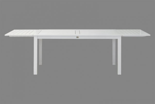 hochwertiger holz gartentisch wei einfach erweiterbar. Black Bedroom Furniture Sets. Home Design Ideas