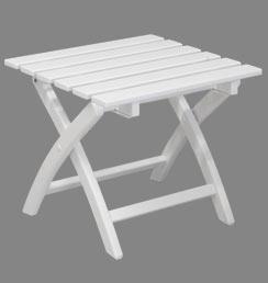 Klapphocker weiß  Stabiler Holz Klapphocker weiß & Beistelltisch