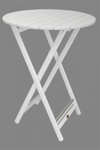 standfester stehtisch rund holz klappbar wei. Black Bedroom Furniture Sets. Home Design Ideas