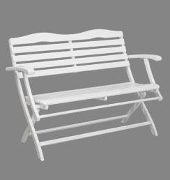Bevorzugt Hochwertige 2 Sitzer Gartenbank weiß - Holzbank HG74