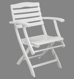 Gartenstühle holz weiß  Mainau Weiß