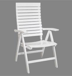 hochwertiger gartenstuhl wei verstellbarer komfort. Black Bedroom Furniture Sets. Home Design Ideas